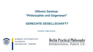 """Offenes Seminar """"Philosophie und Gegenwart"""""""